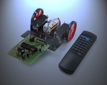 TV Remote Controlled Robotic Vehicle