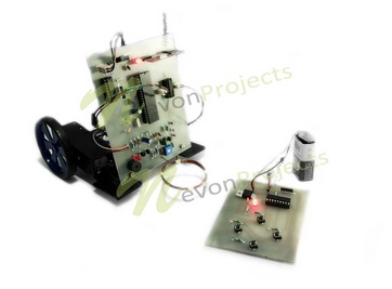 Rf Controlled Robotic Vehicle With Metal Detection Project width=