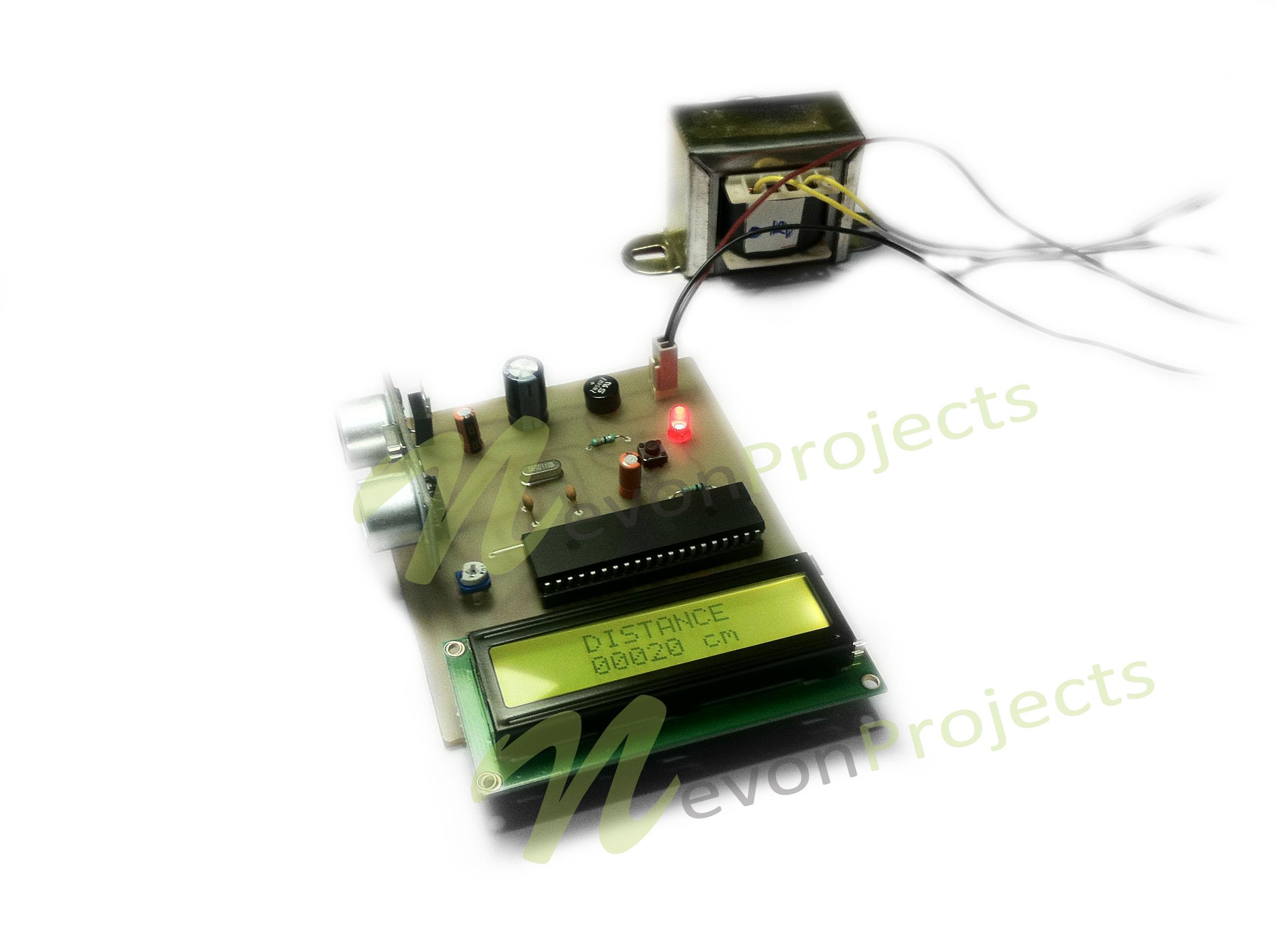 Arduino Ultrasonic Sensor LCD Distance Measurement