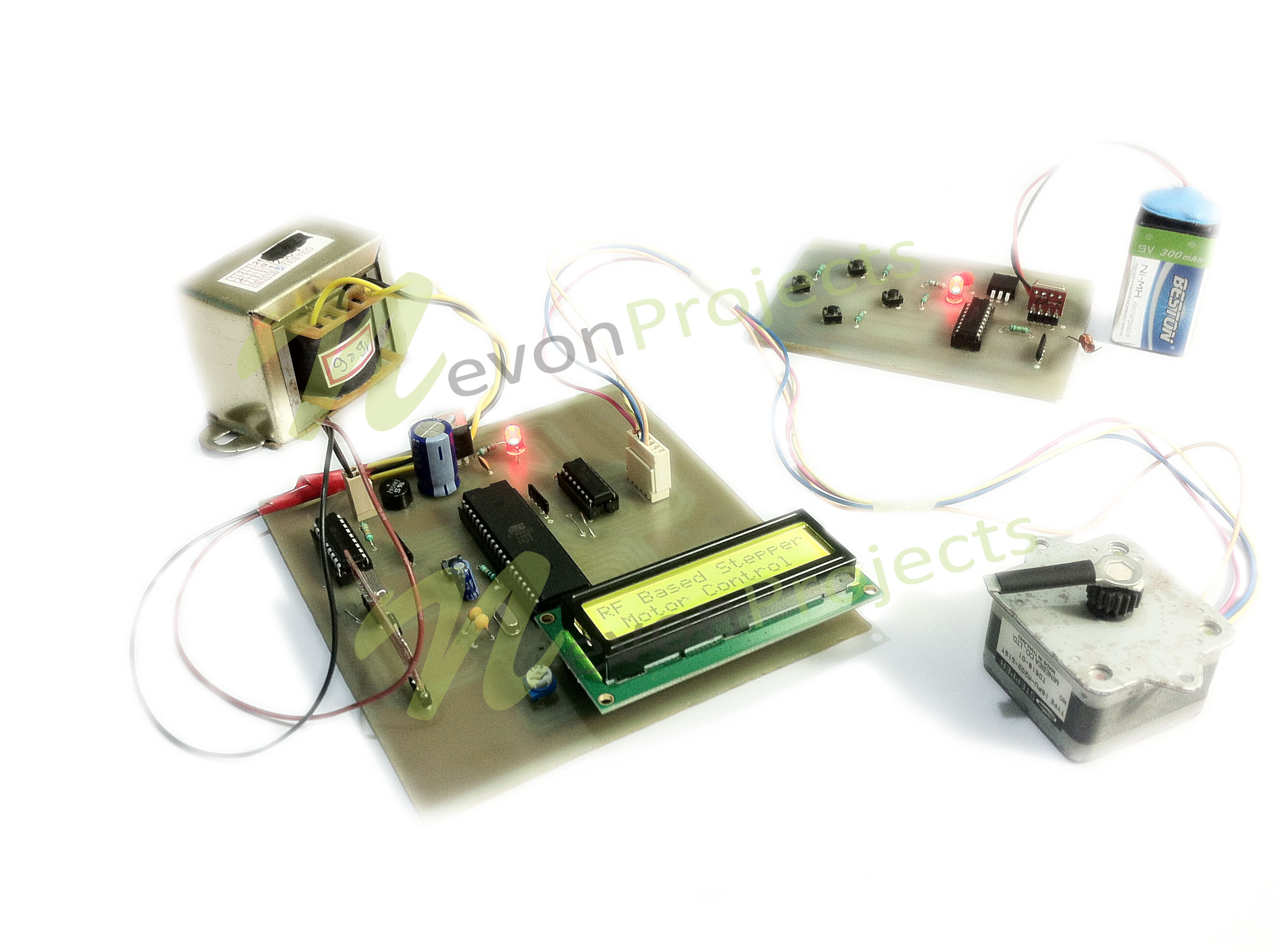 remote stepper motor controller project nevonprojects