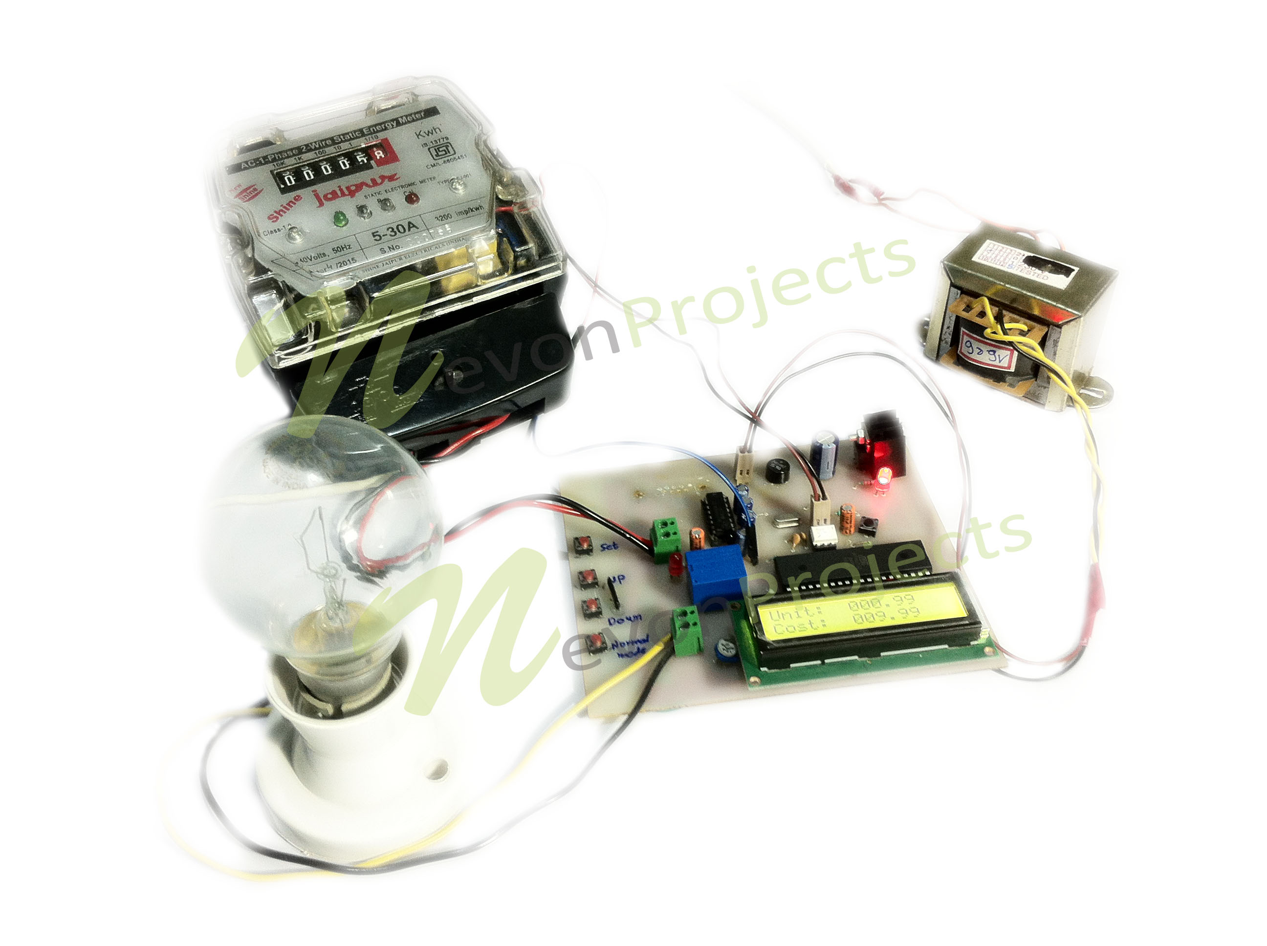 Device Load Monitor With Programmable Meter For Energy Audit 8051 Microcontroller Projects 038 Circuits