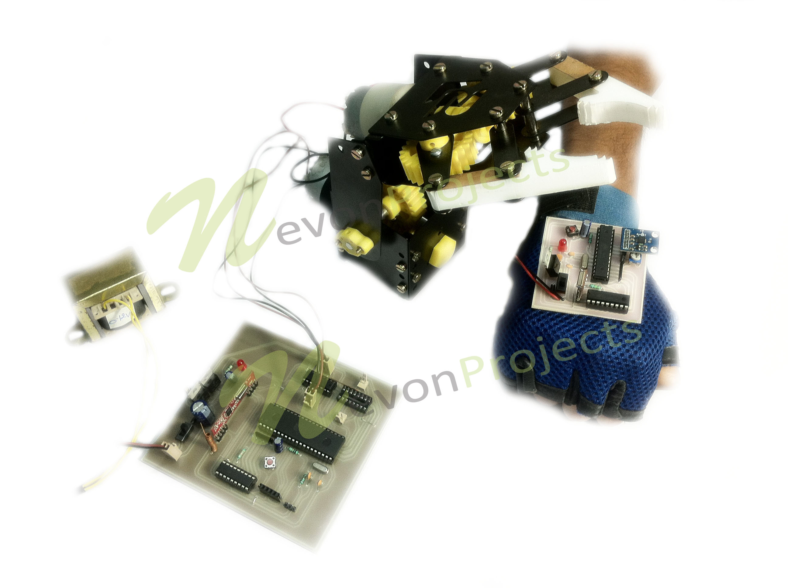 Hand Motion Controlled Robotic Arm
