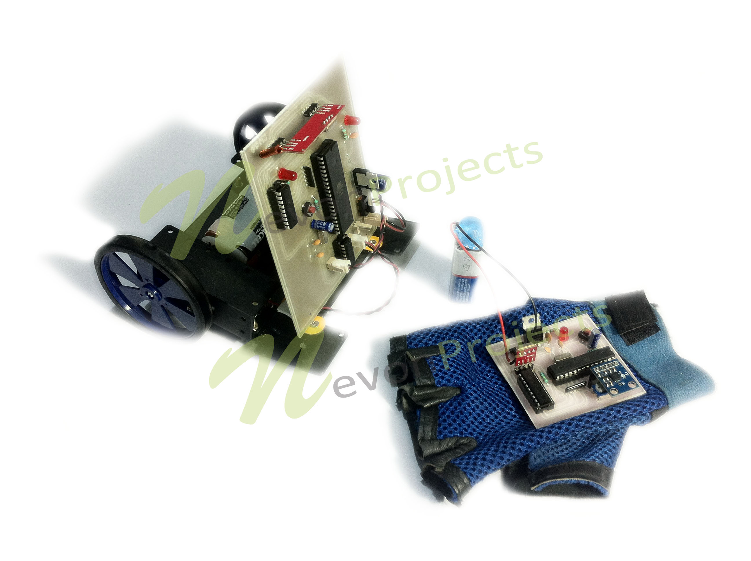 Robotic Vehicle Controlled By Hand Gesture Using Pic Receiver Block Diagram For Rf Remote Metal Detecting Robot