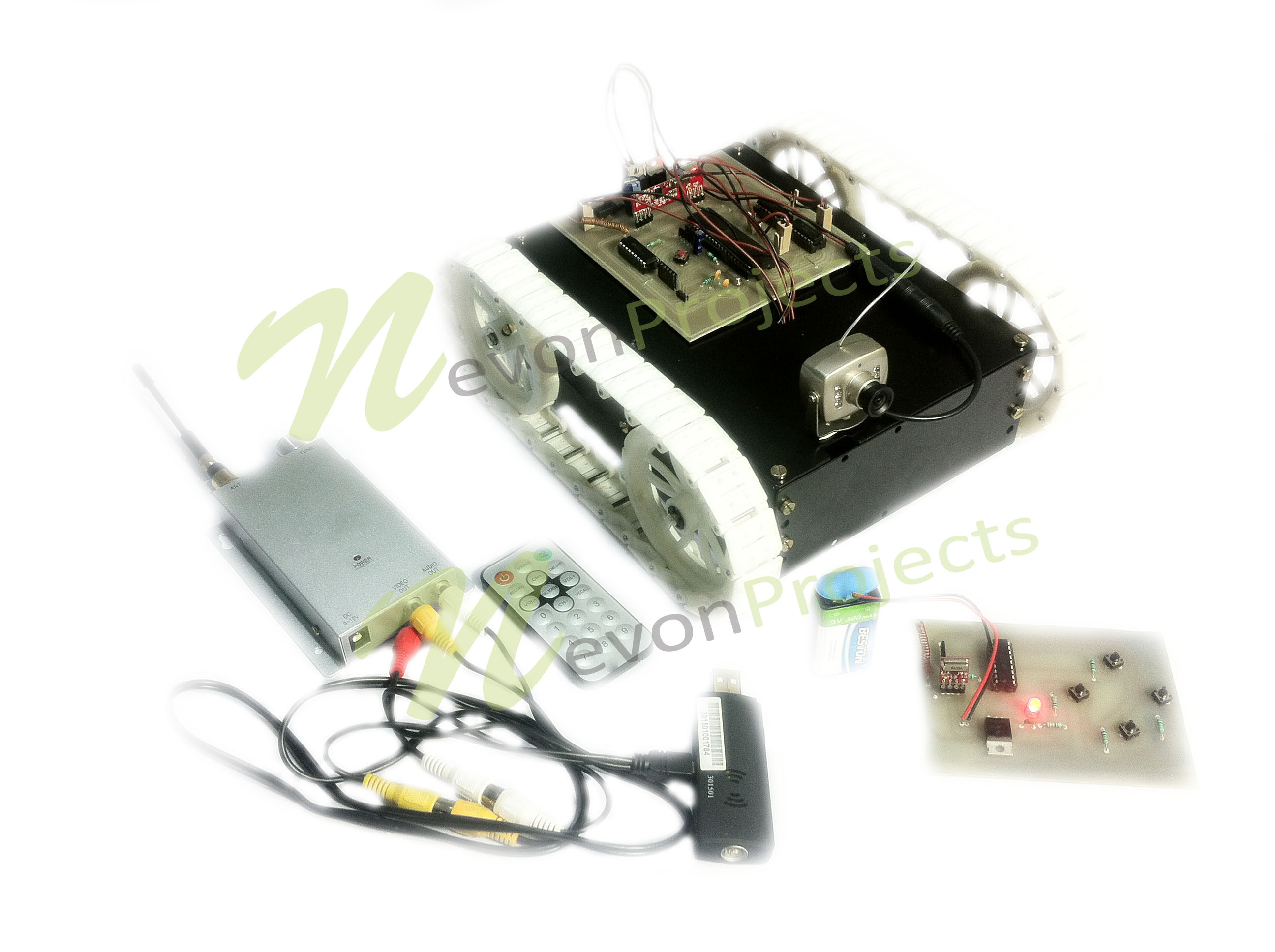 RF Based Night Vision Spy Robot Using PIC