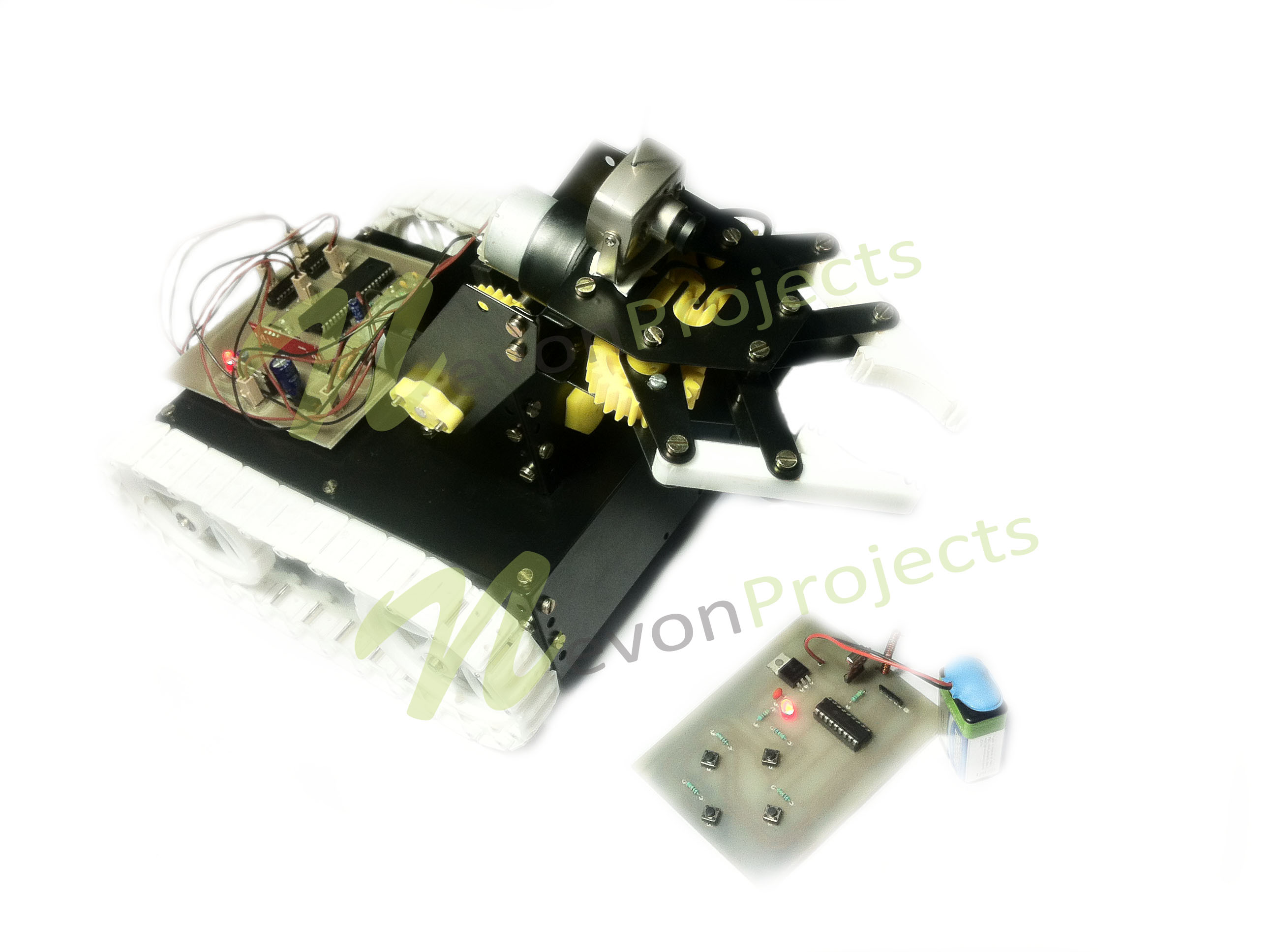Advanced Military Spying Bomb Disposal Robot 8051 Microcontroller Projects 038 Circuits And Project