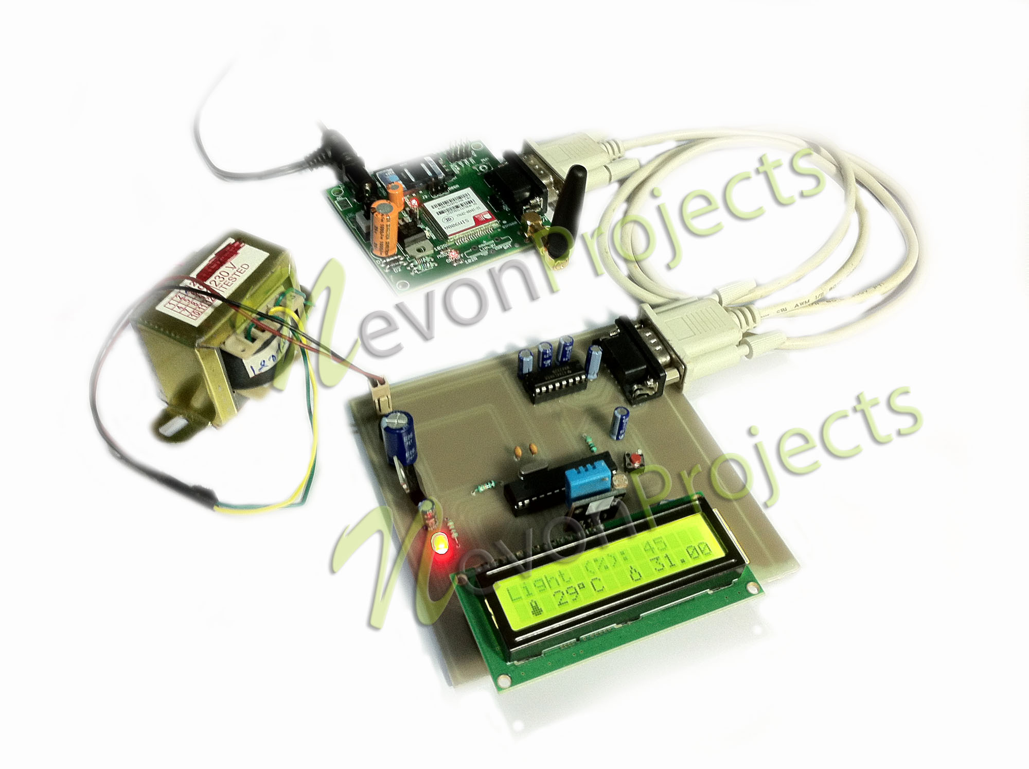 Gsm Based Weather Reporting Project Temperature Detector Controller Circuit Electronic Projects