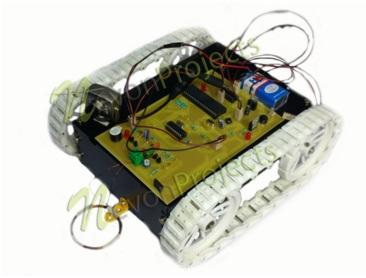 Long Range Spy Robot with Metal Detection