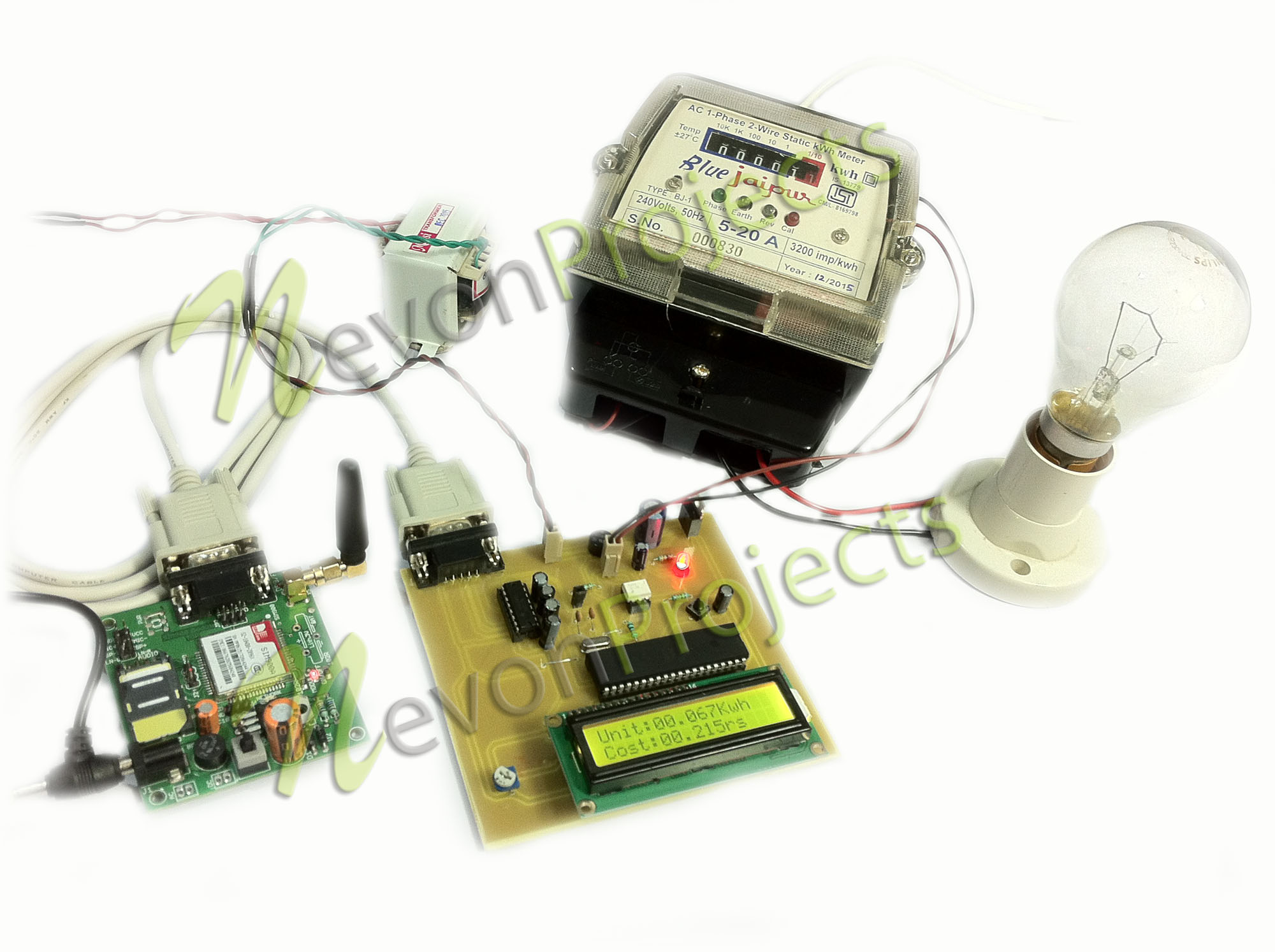 Monthly Electricity Billing Display With Bill Sms Feature Electronics Circuit Board 8051 Projects Power Supply Design