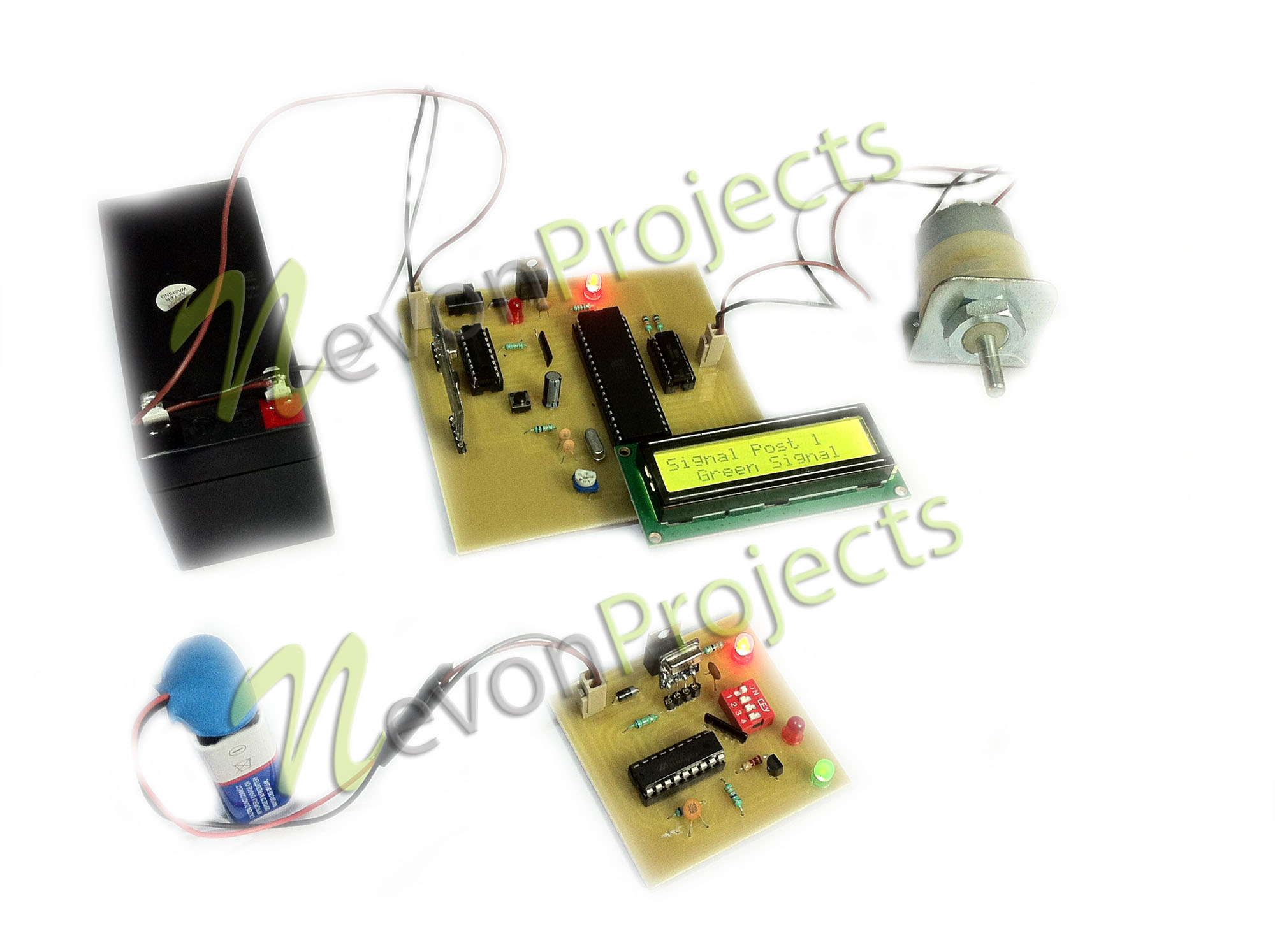 Rf Based Red Signal Alerting Project For Trains Detector Circuit Electronic Using Transistors Download Document Synopsis