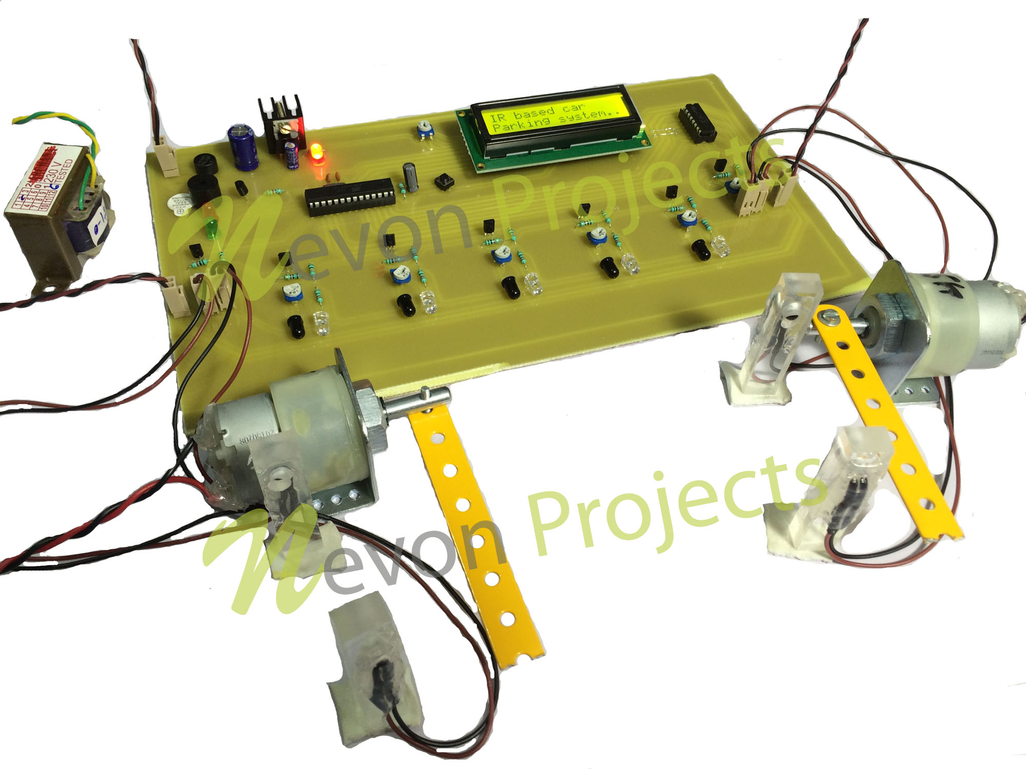 Automated Car Parking With Empty Slot Detection Automotive Circuits And Projects 17 Project