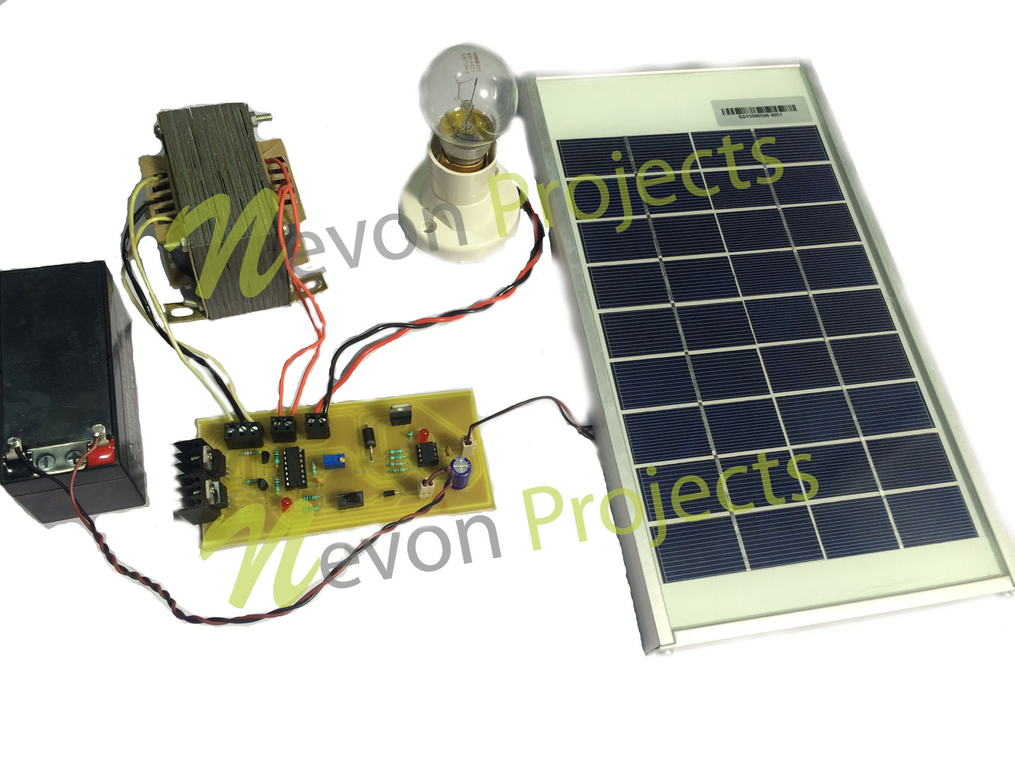 Solar Based Ups Project Nevonprojects Panel Wiring Diagram On 12 Volt Motion Light