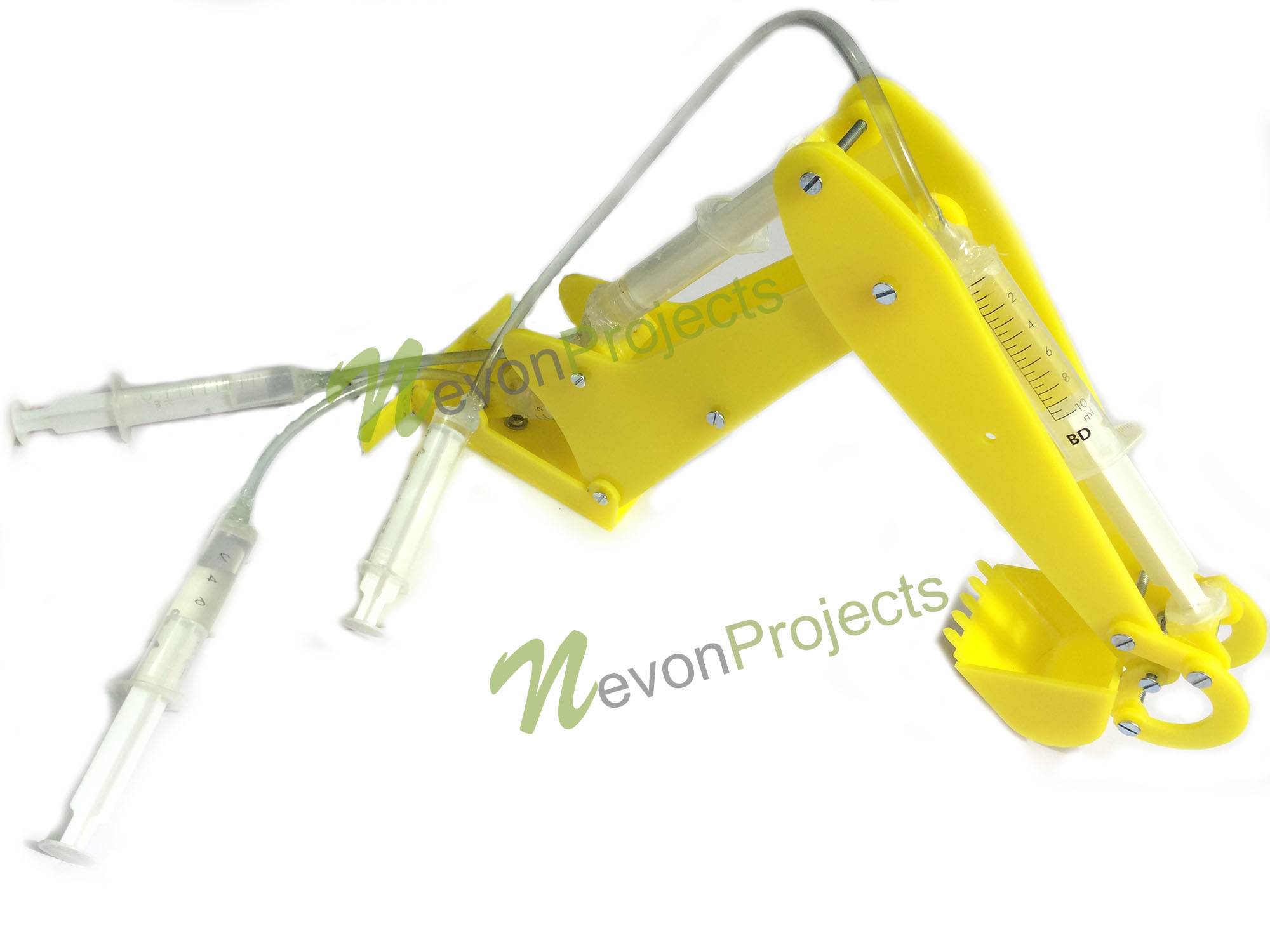 3 DOF Hydraulic Extractor Mini JCB Project | NevonProjects