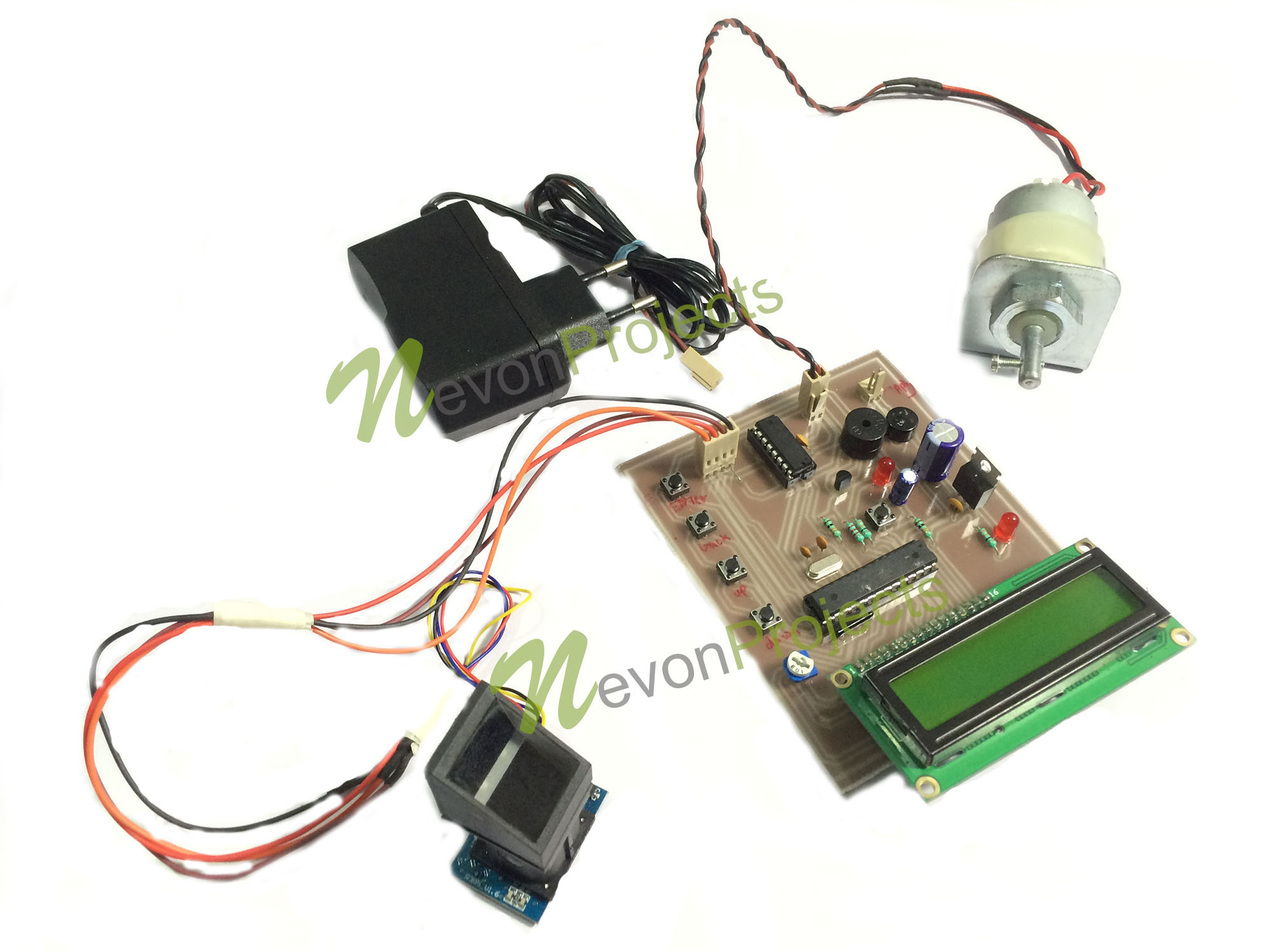 Fingerprint Vehicle Starter Project General Remote Diagram