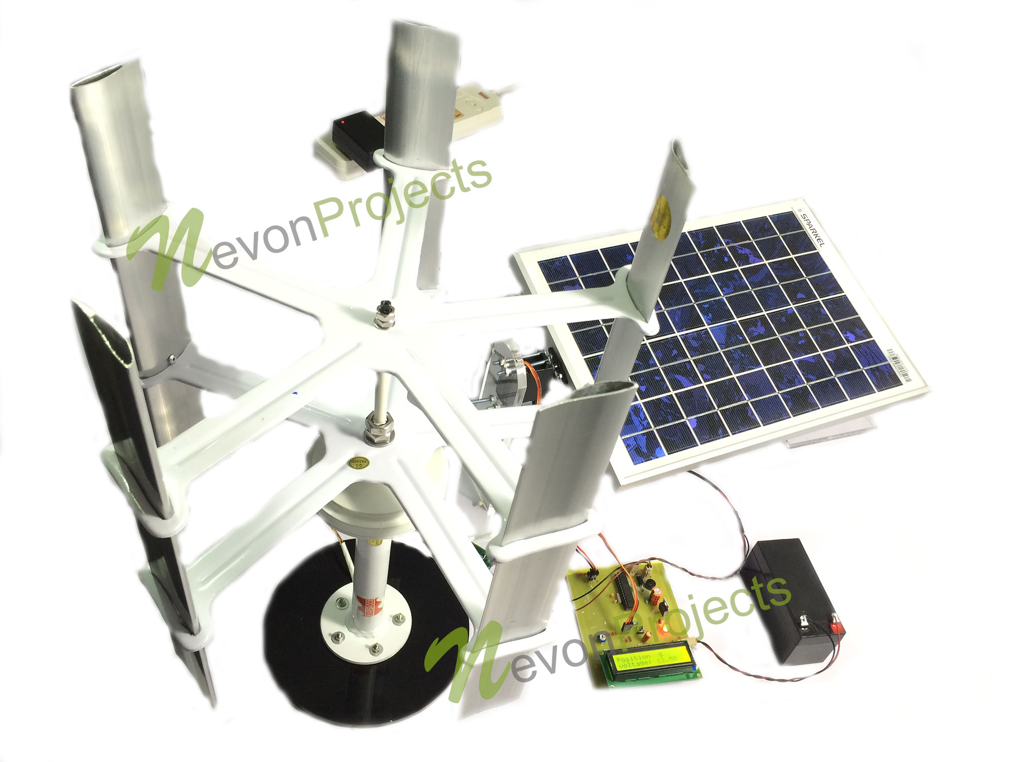 Dual Power Generation Solar Plus Windmill Generator