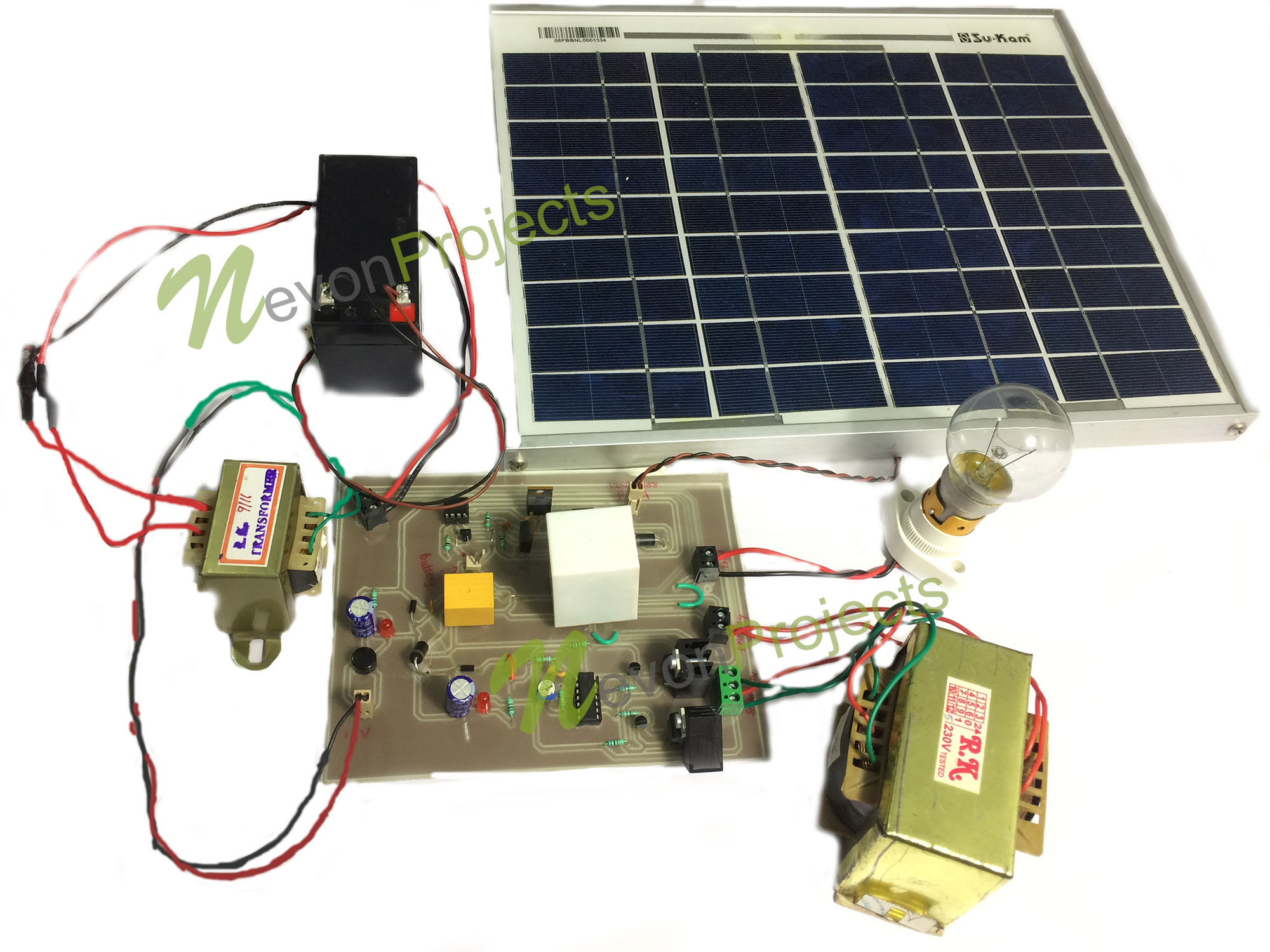 Hybrid Inverter With Solar Battery Charging Ckt Diagram Of
