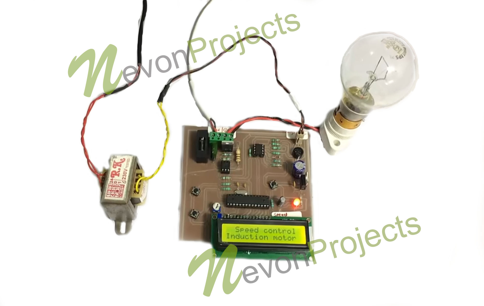 Induction Motor Speed Controller Project Nevonprojects