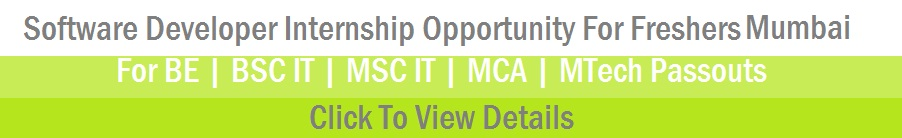 bsc it internship opportunity mumbai