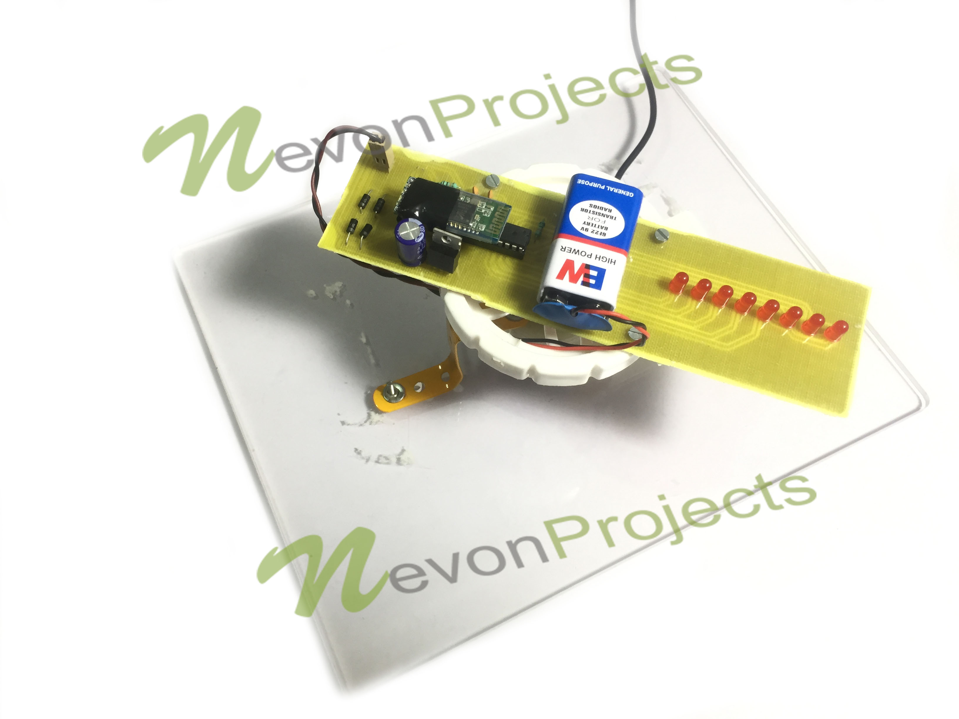 Propeller Clock Kit : Displaying time using led propeller clock nevonprojects