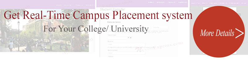 real time campus placement system software