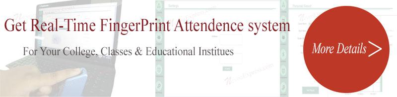 Student Attendance with Fingerprint Reader