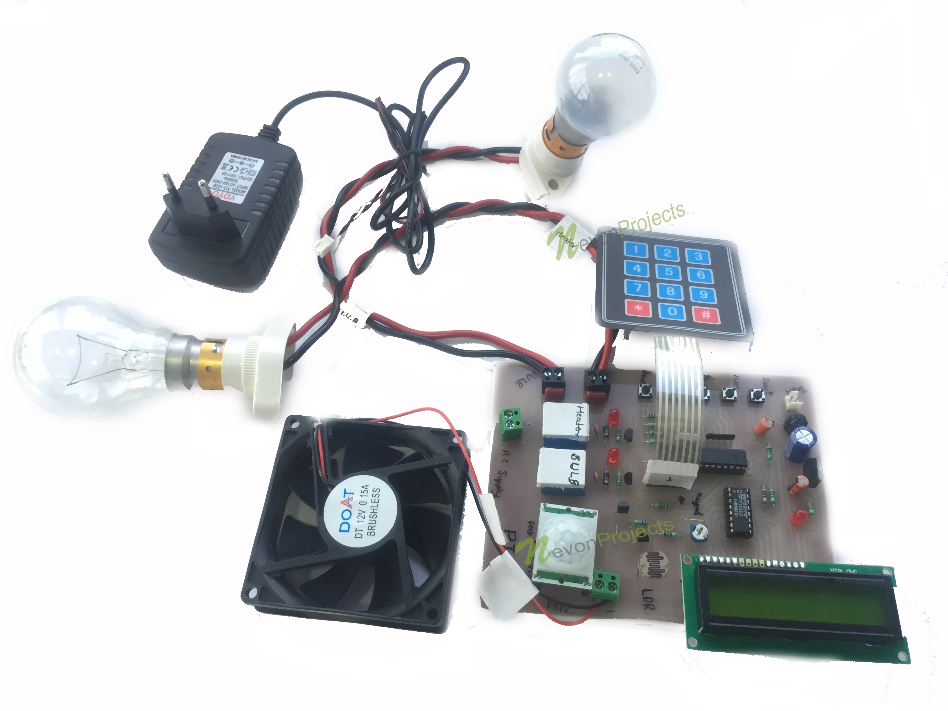 Motion Based Home Automation & Temperature Controller