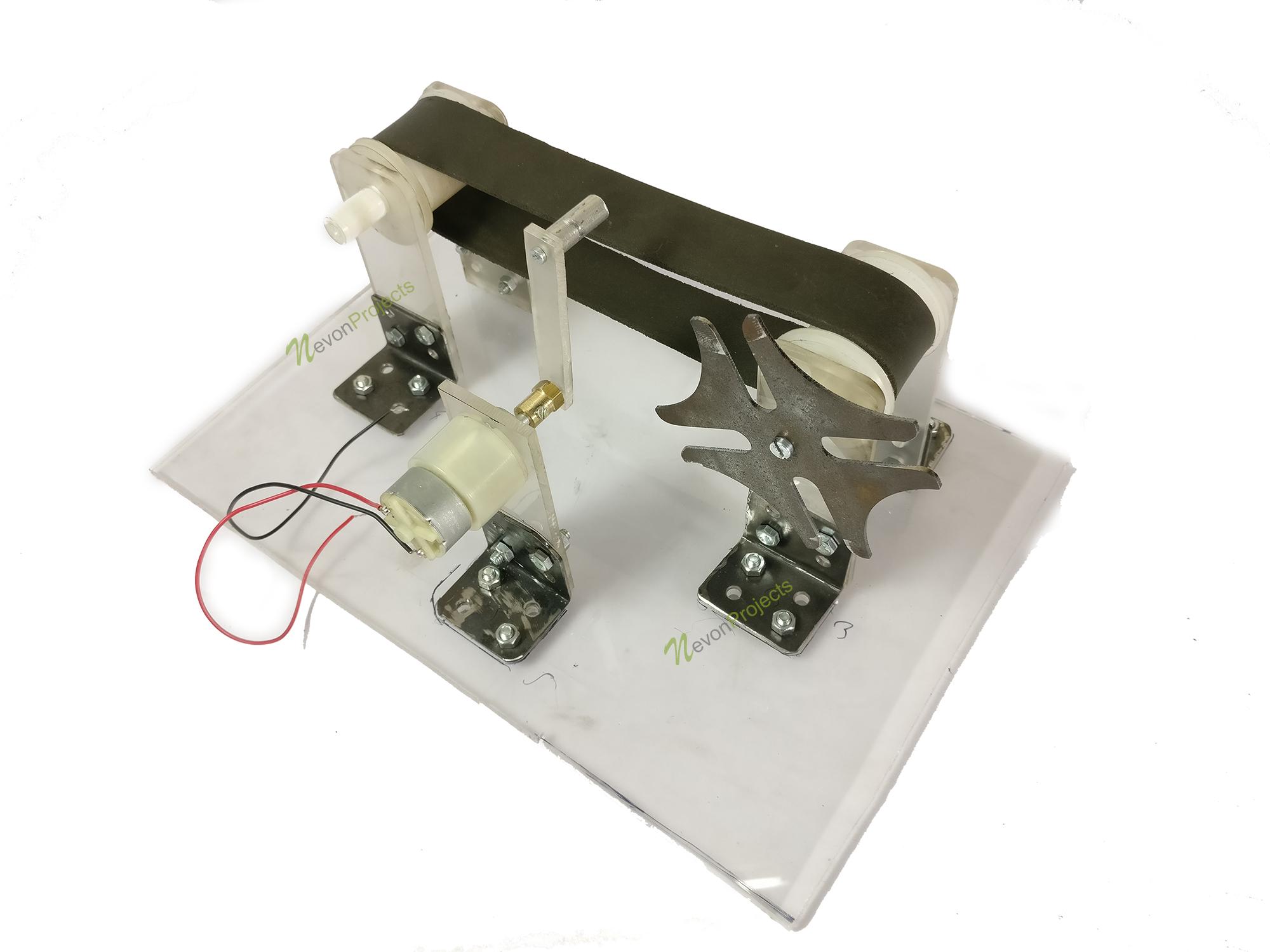 Mini Conveyor using Geneva Mechanism