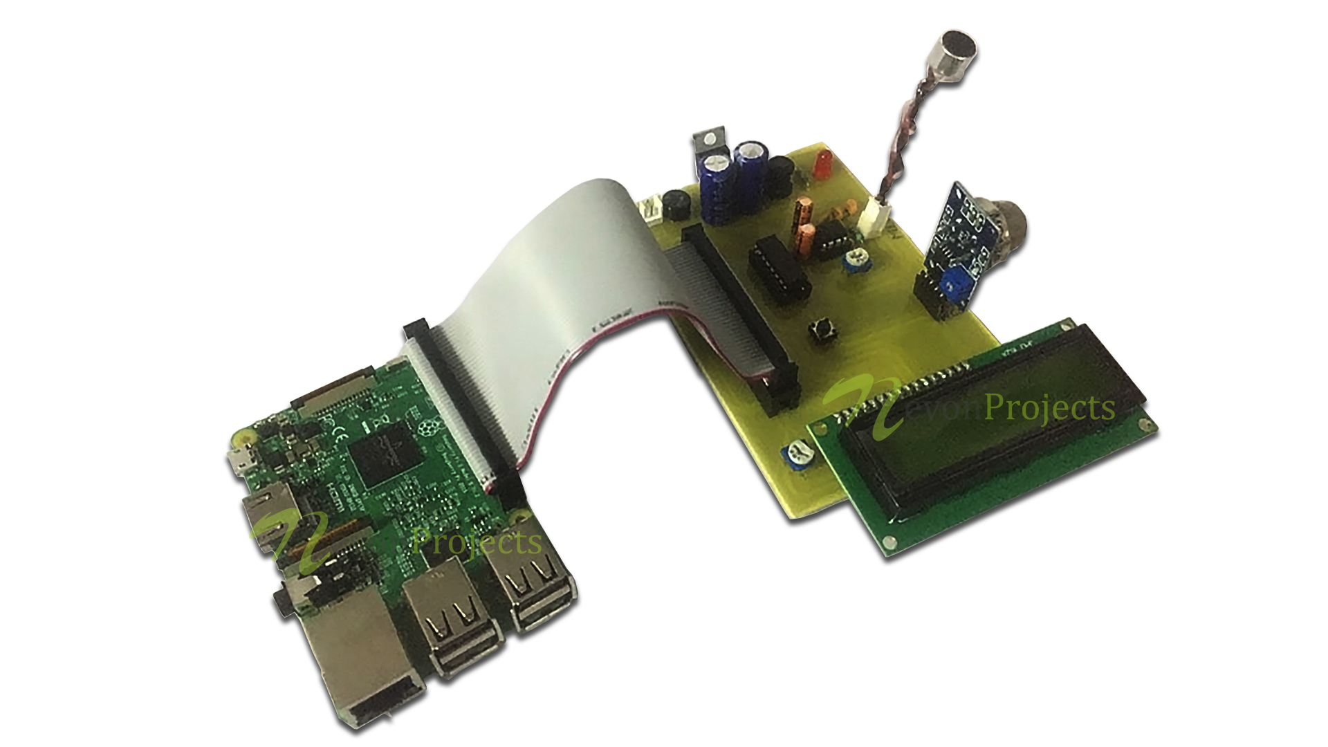 Raspberry Pi Air and Noise Pollution Monitoring System Over IOT