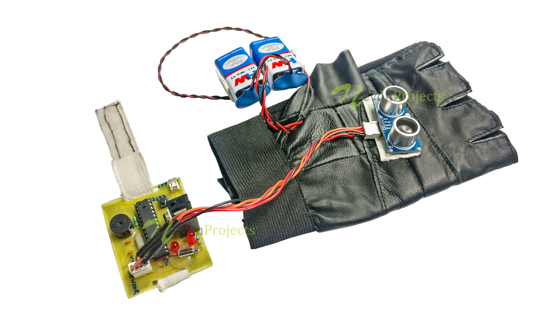 Third Eye For Blind Ultrasonic Vibrator Glove 8051 Microcontroller Rangefinder Using Circuit Diagram The With Vibrating Is Designed To Help Overcome Lack Of Visual Sense By Other Senses Like