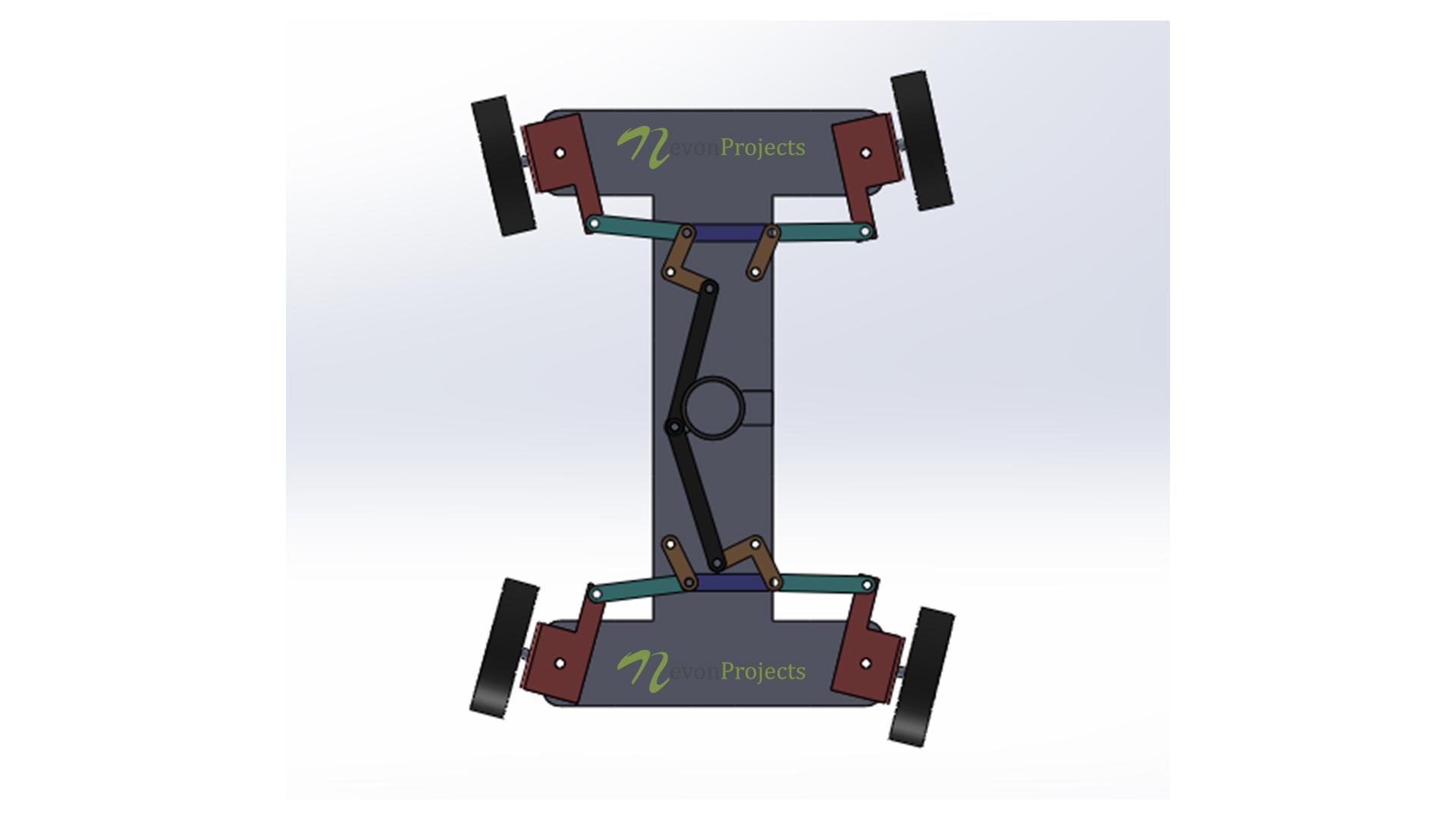 Four Wheel Steering Mechanism Project