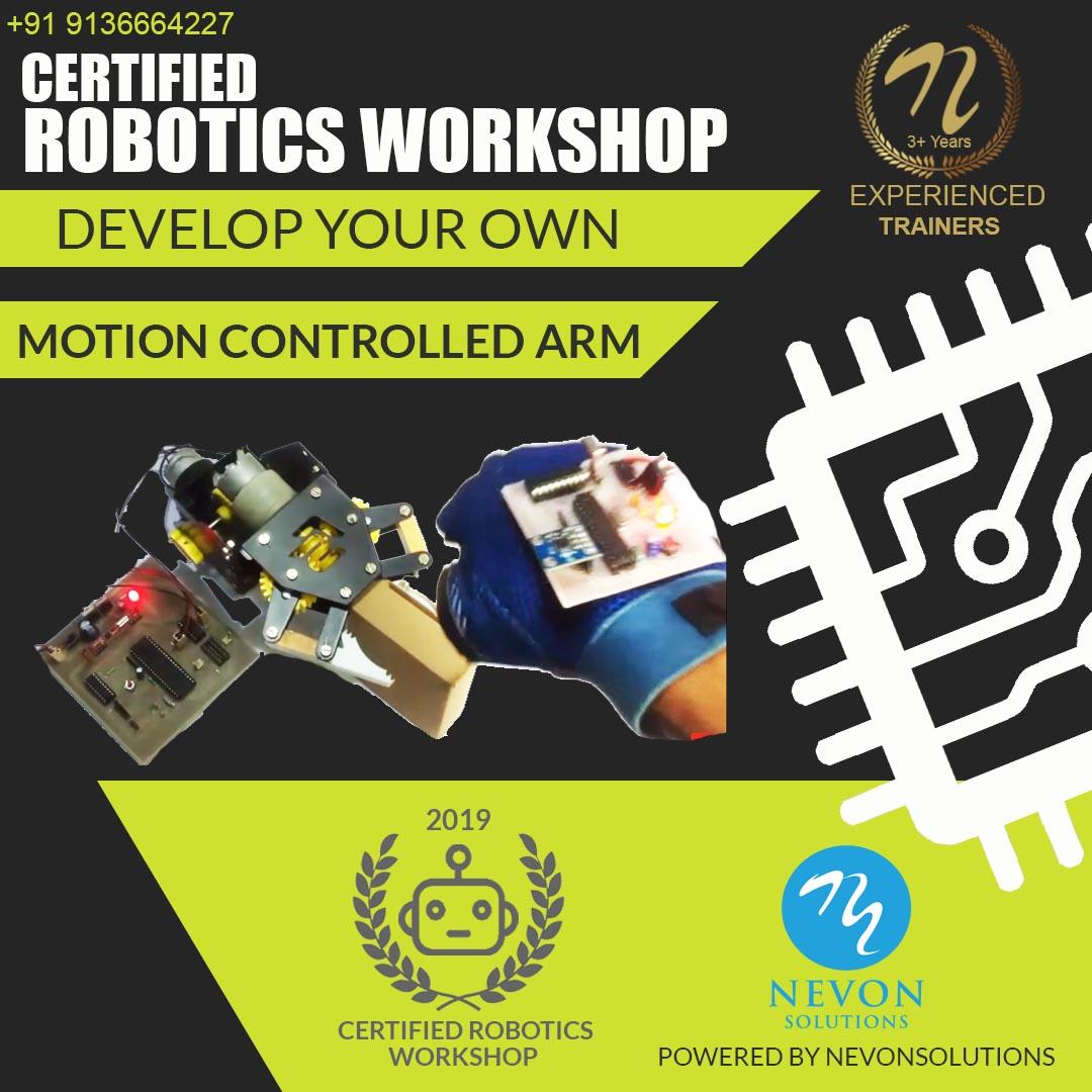 nevon motion controlled arm robot workshop