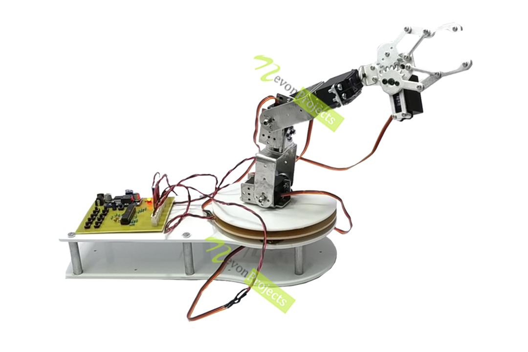 Automated 5Dof Robotic Arm Mechanism