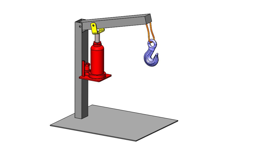 Mini Hydraulic Hand Operated JIB Crane