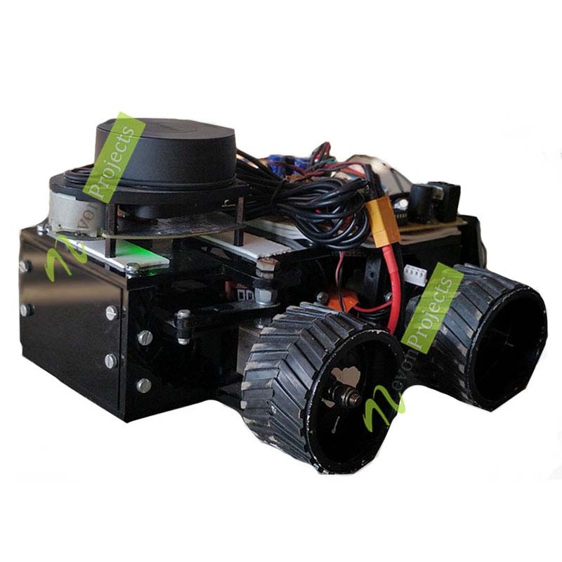 LIDAR based Autonomous Vehicle with GPS Tracking