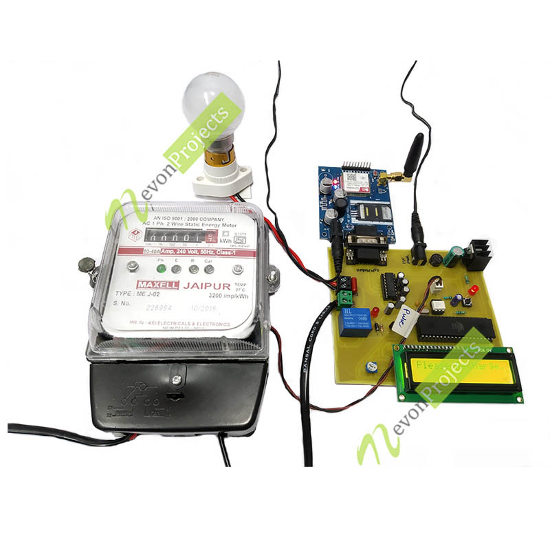 Prepaid electricity billing meter project.