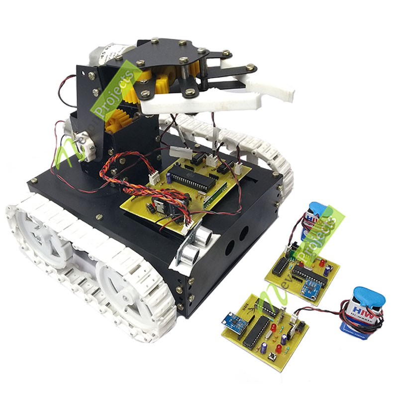 Motion Controlled Pick & Place rf Robotic Vehicle