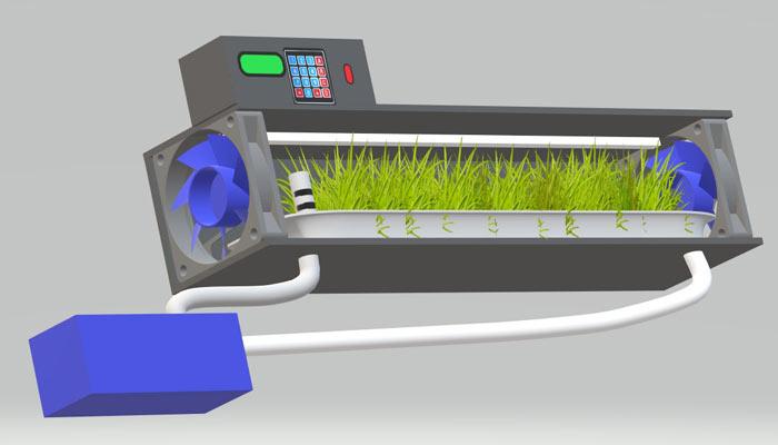 Hydroponic mini chamber fodder