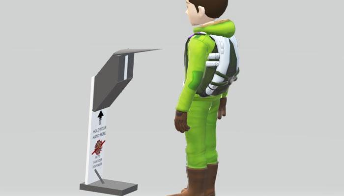 Auto sanitizer dispenser project
