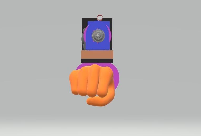 Nevon arm hammer drill attachment