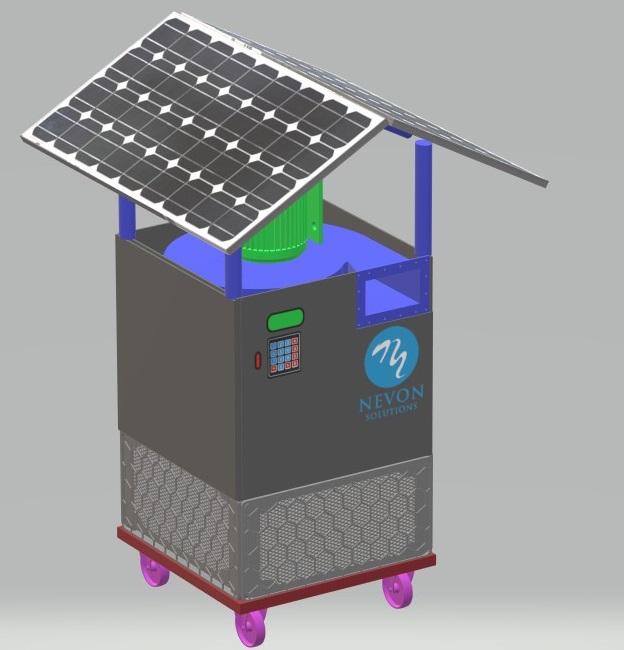 solar outdoor air purifier