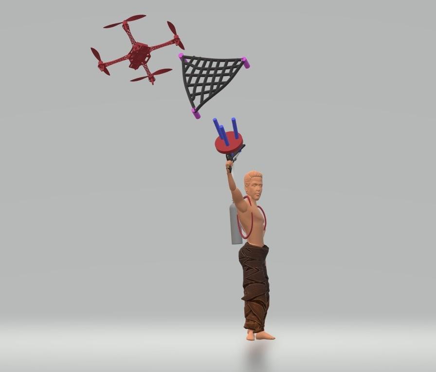 nevon drone net launcher