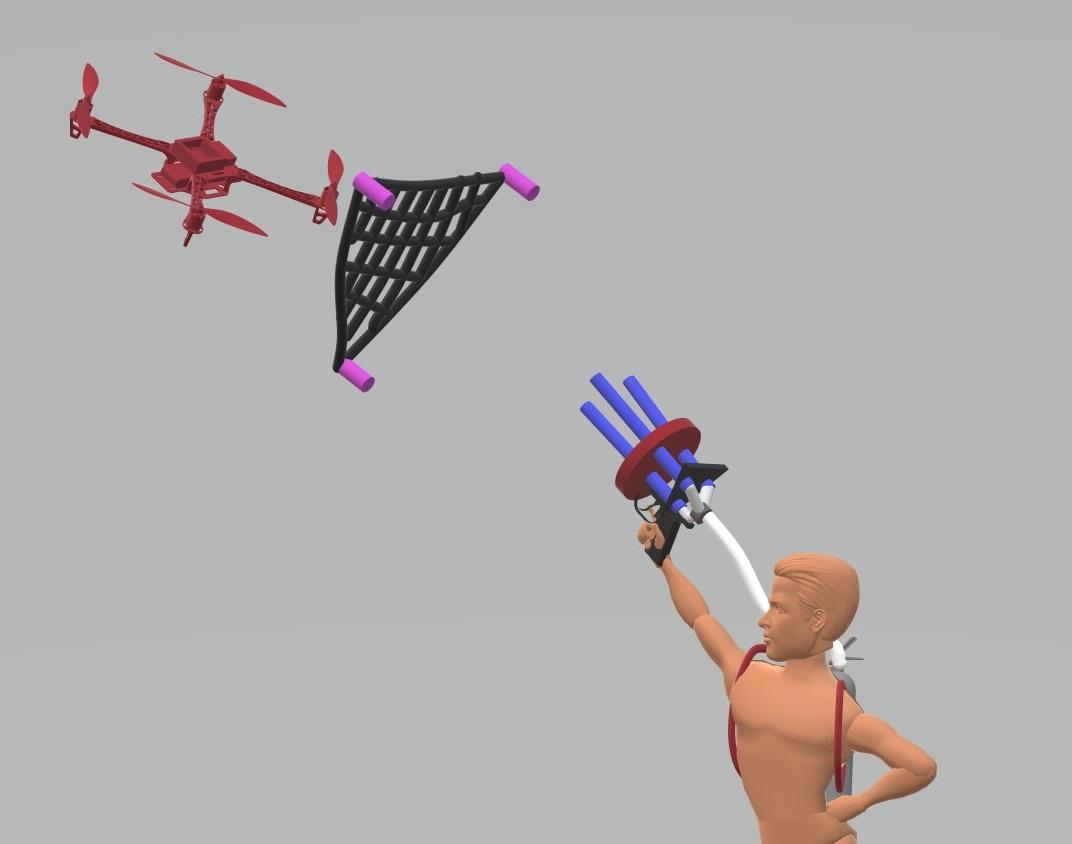 diy drone catcher
