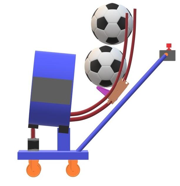 Nevon soccer ball machine