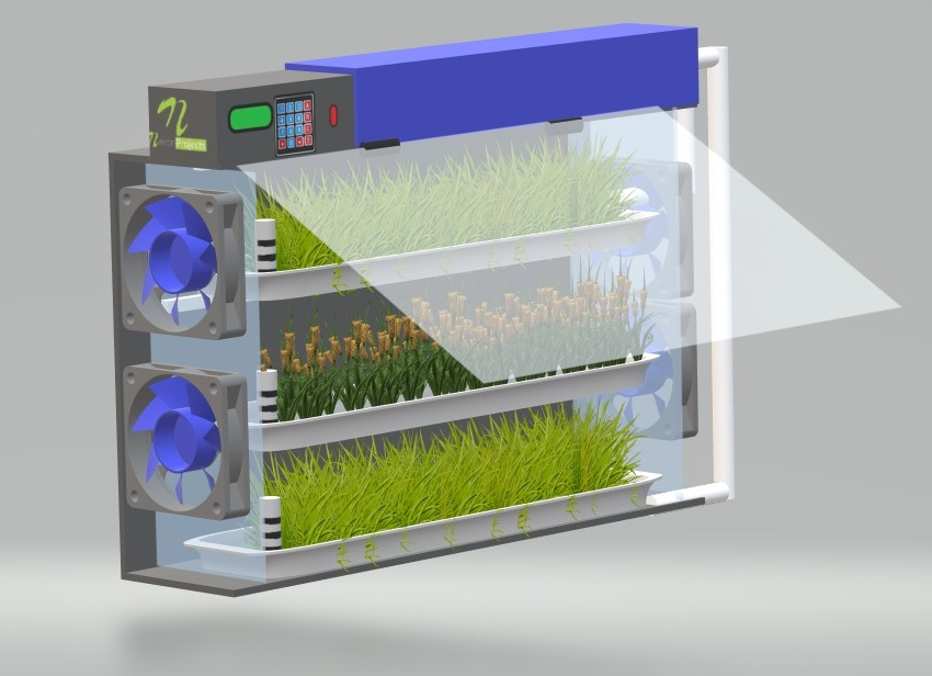 Indoor farming hydroponic chamber