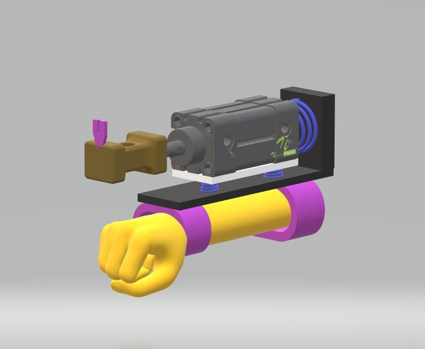 Pneumatic arm hammer nevon