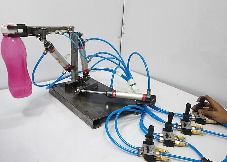 pneumatic robot arm