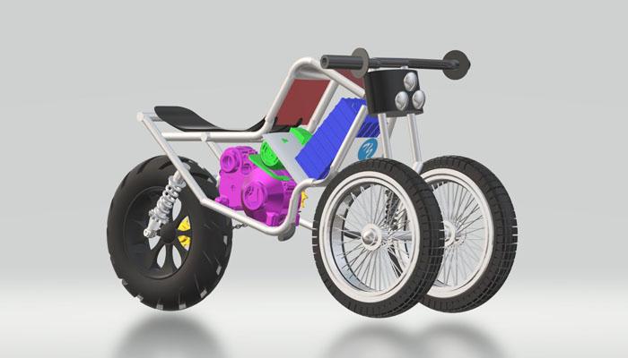 DIY 3 wheel rough terrain ebike
