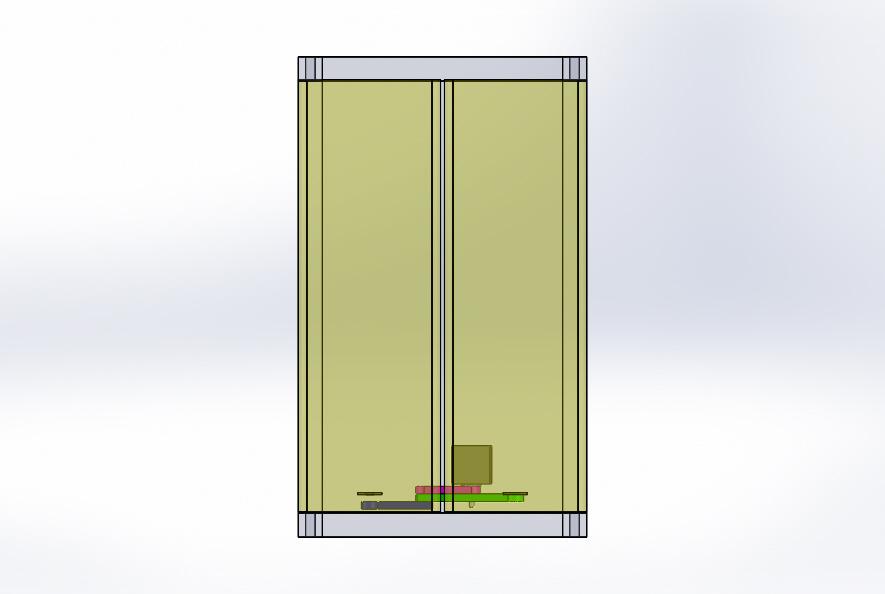 Nevon double door opener top view