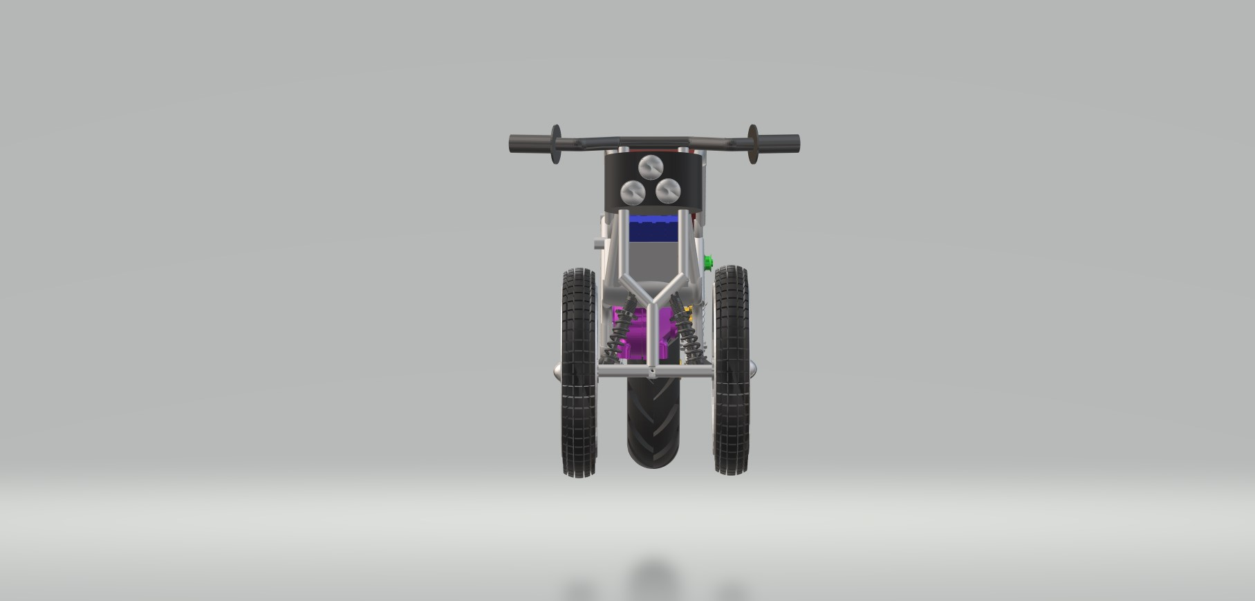 Nevon 3 wheel ebike front view