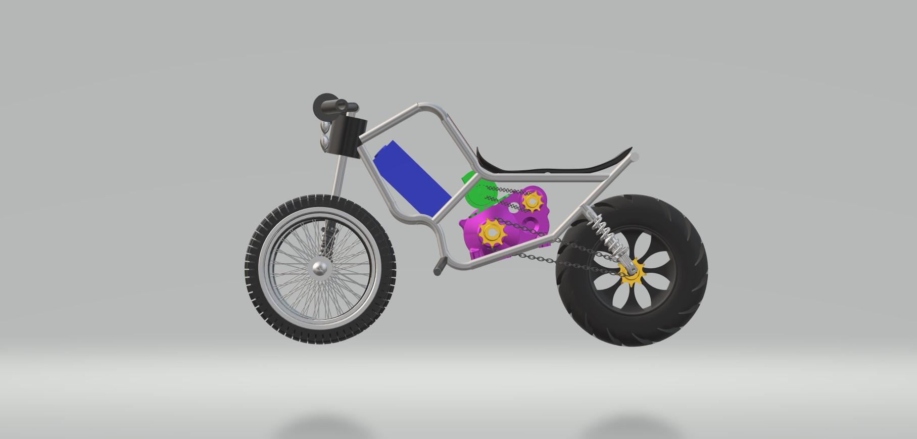 Nevon 3 wheel bike side view