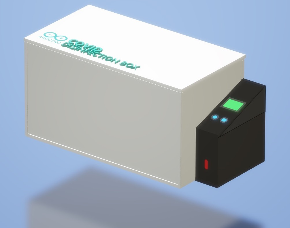arduino covid disinfection box device
